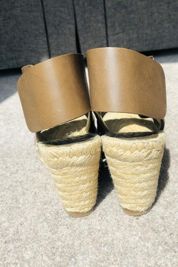 Celine Leather Espadrille Wedges 2