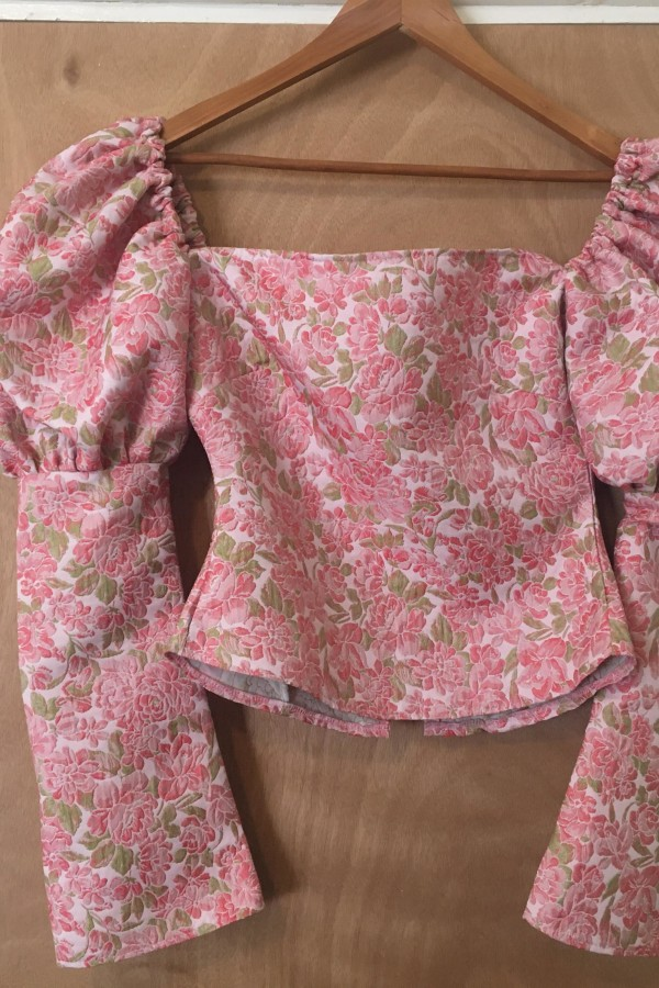 Image 2 of Olivia Rose The Label the ophelia top pink and green