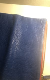 Clare V. Blue and red clutch 7 Preview Images