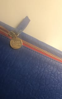 Clare V. Blue and red clutch 2 Preview Images