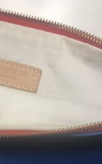 Clare V. Blue and red clutch 3 Preview Images