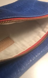 Clare V. Blue and red clutch 6 Preview Images