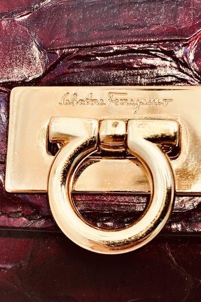 Salvatore Ferragamo Scarlet Python Evening Bag 5