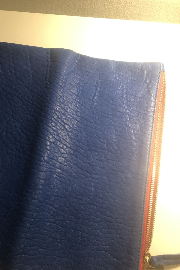 Clare V. Blue and red clutch 7