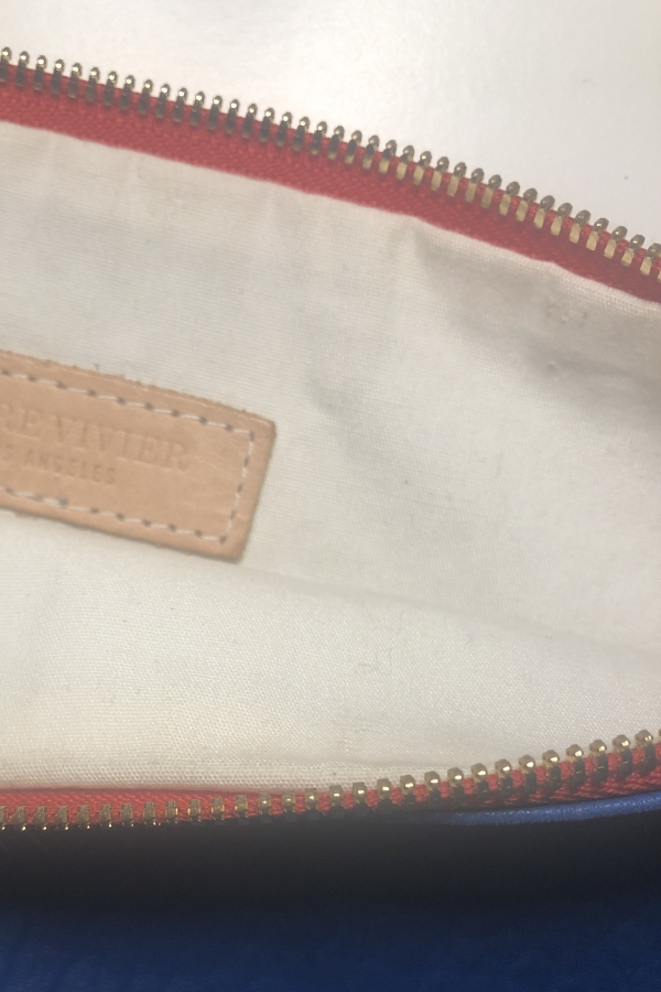 Clare V. Blue and red clutch 3