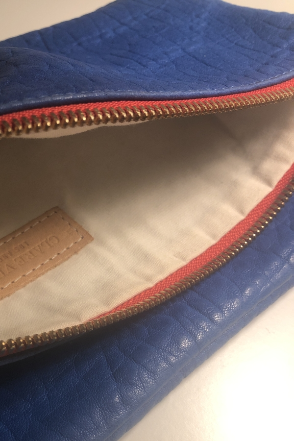 Clare V. Blue and red clutch 6