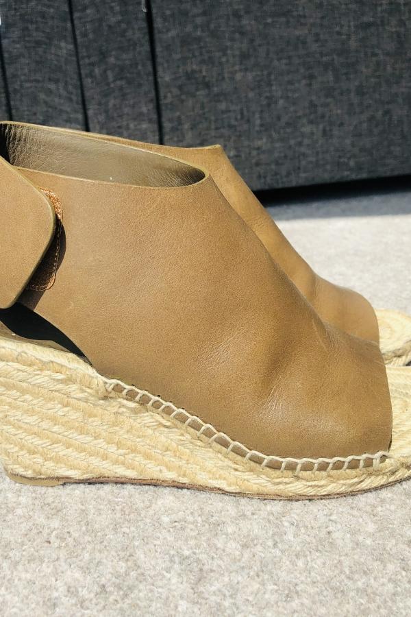 Celine Leather Espadrille Wedges 5