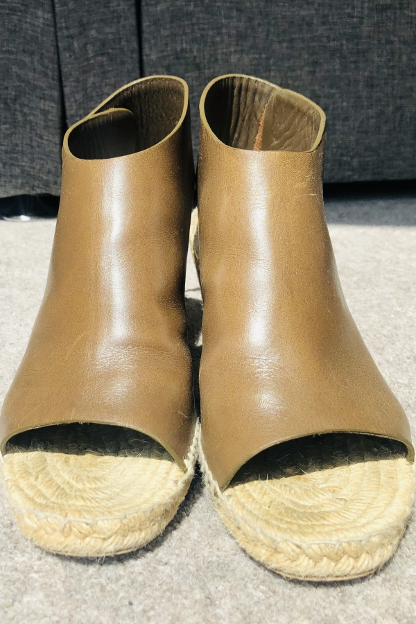 Celine Leather Espadrille Wedges 3