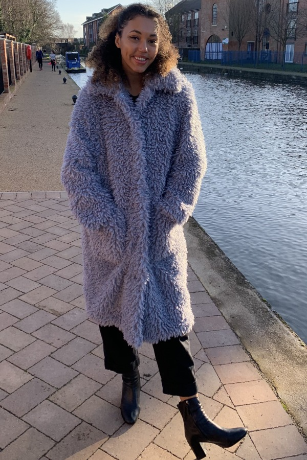 Image 3 of Stand Studio taylor faux shearling coat
