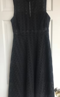 Sandro Black Panel Midi Dress 4 Preview Images