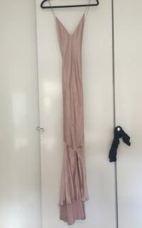 Michael Lo Sordo Asymmetric Silk Satin Dress 5 Preview Images