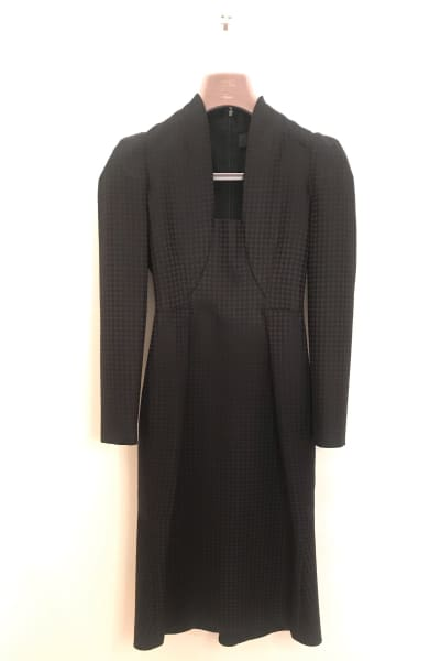 Gucci Houndstooth Open-Neck Dress 2