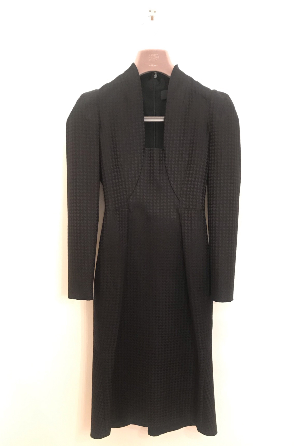 Gucci Houndstooth Open-Neck Dress 1 Preview Images