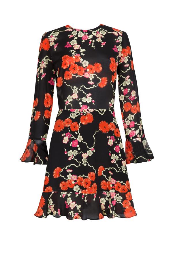 RIXO London Blossom Tree Mini Dress