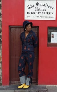 Olivia Annabelle Defoe Embroidered Denim Suit 3 Preview Images