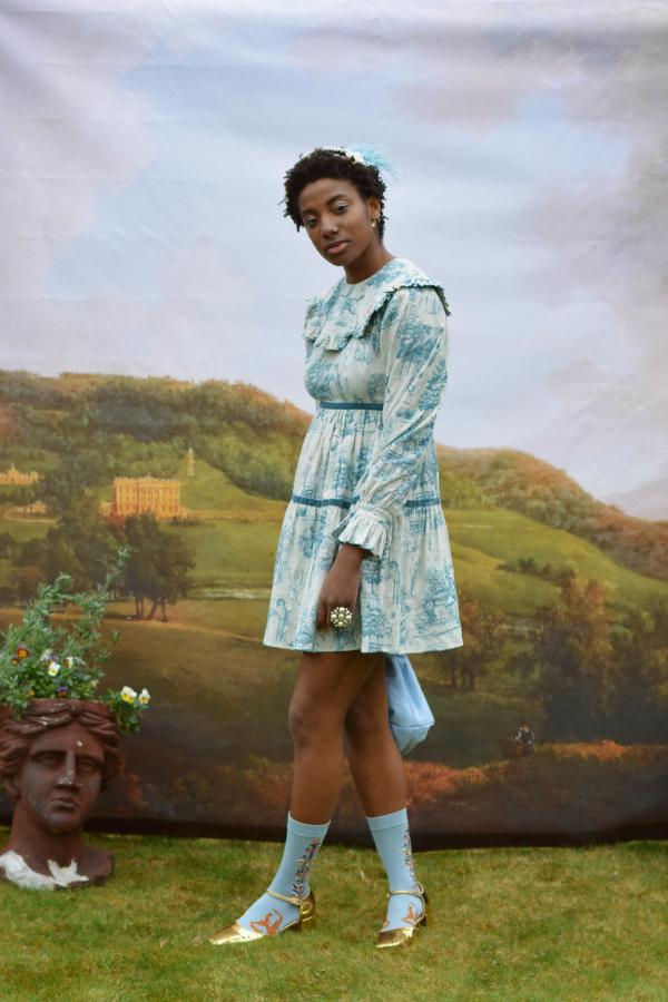 Olivia Annabelle Jane Dress in Powder Vauxhall  4