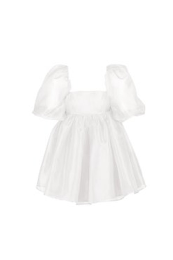 Image 1 of Selkie the ivory puff dress
