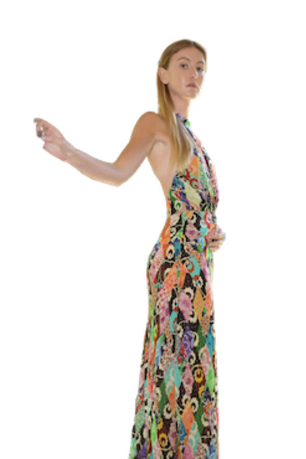 Image 3 of Rixo kendra patchwork dress