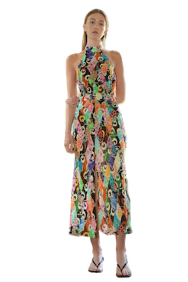 Image 2 of Rixo kendra patchwork dress