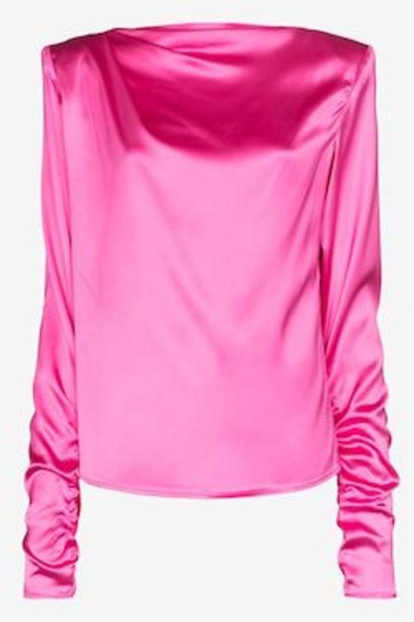 Image 1 of Gauge81 modena boat neck satin blouse