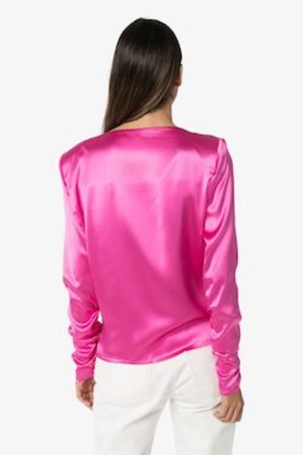 Image 3 of Gauge81 modena boat neck satin blouse