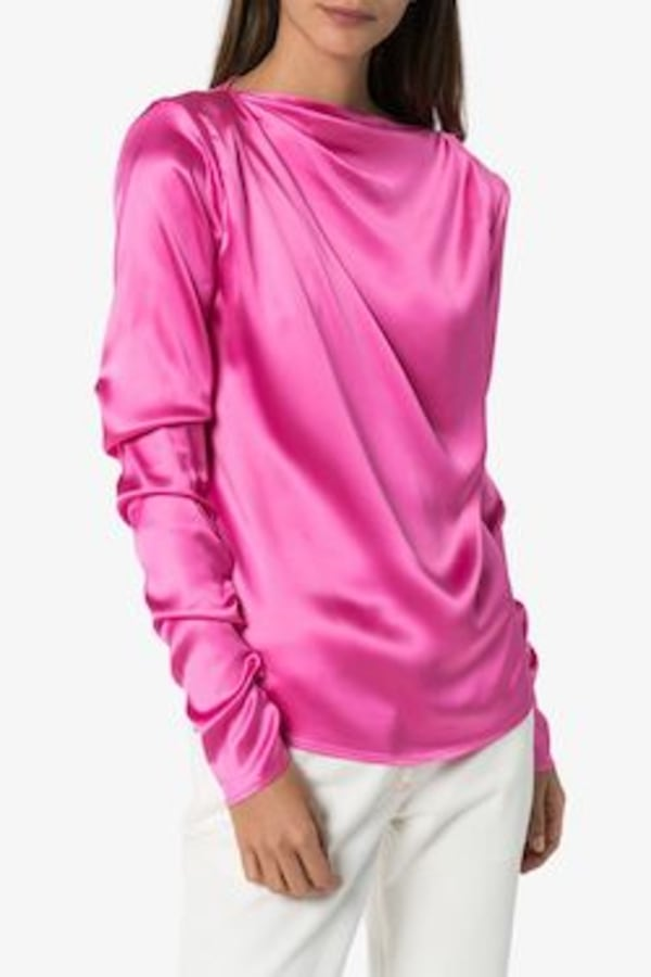 Image 2 of Gauge81 modena boat neck satin blouse