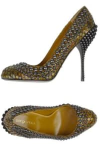 Sergio Rossi Military Green Studded Shoes 2 Preview Images