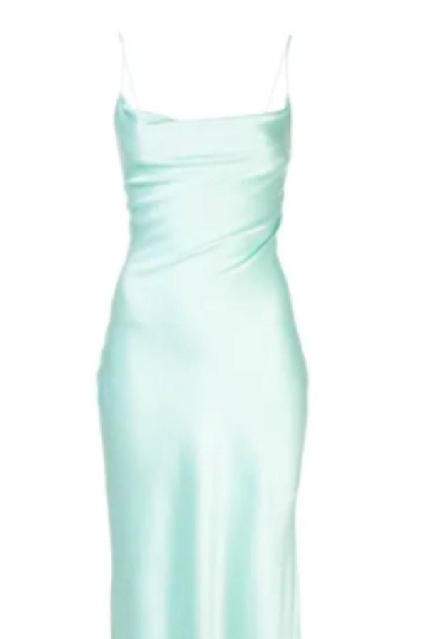 Image 3 of Alice + Olivia harmony cowl slip dress