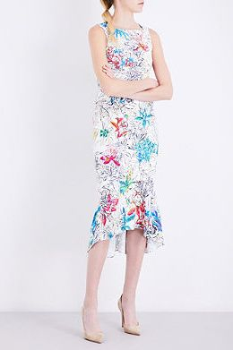 Peter Pilotto  Floral-print Crepe Dress Preview Images
