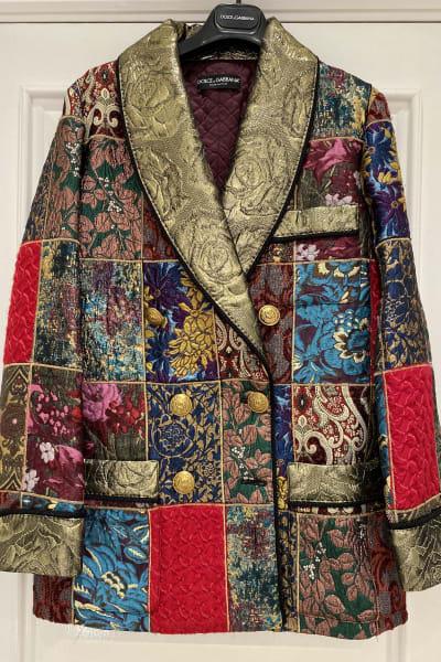 Dolce & Gabbana Brocade & Silk Blazer 5