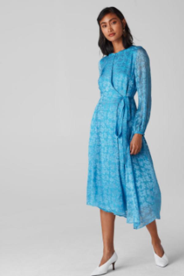 Whistles Devore Tie Waist Dress 3