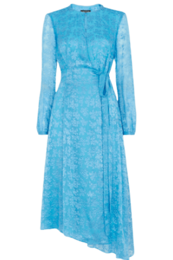 Whistles Devore Tie Waist Dress 0 Preview Images