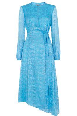 Whistles Devore Tie Waist Dress Preview Images