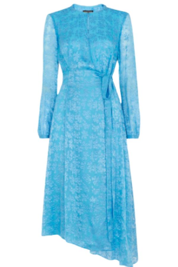 Whistles Devore Tie Waist Dress