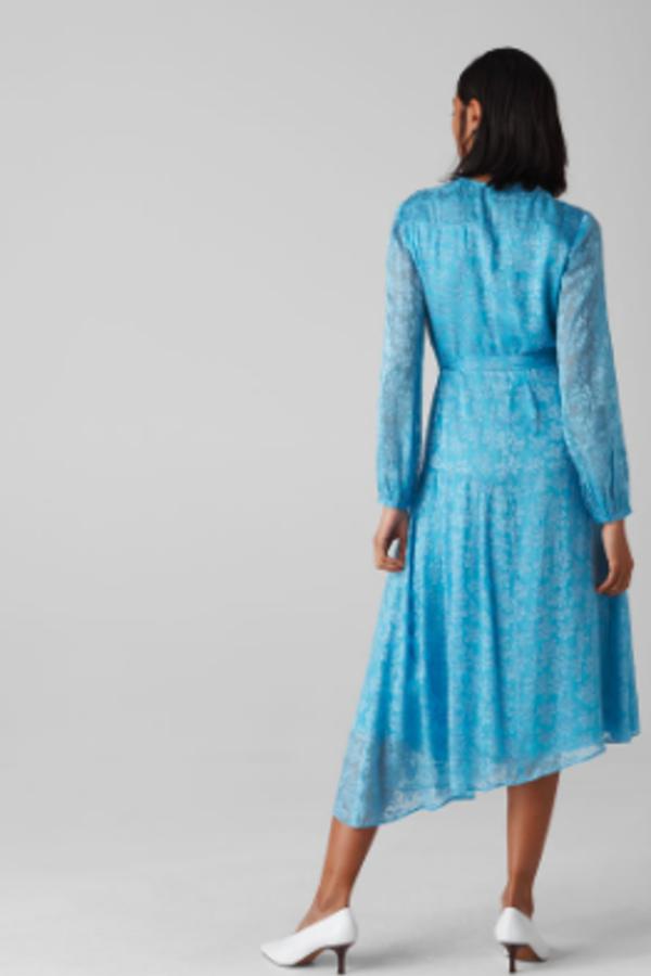 Whistles Devore Tie Waist Dress 2