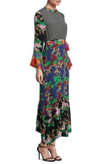 RIXO London The Chrissy Multi-Print Dress 3 Preview Images