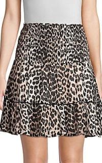 Ganni Leopard Mini Skirt 2 Preview Images