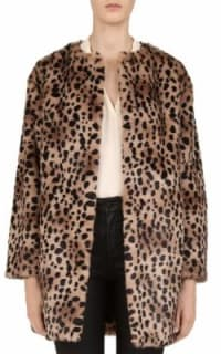 Gerard Deral Mischa Faux Fur Leopard Coat 2 Preview Images