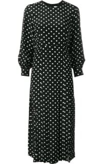 RIXO London Polka Dot Silk Dress Preview Images