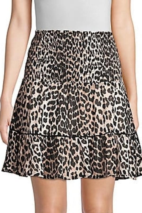 Ganni Leopard Mini Skirt 2