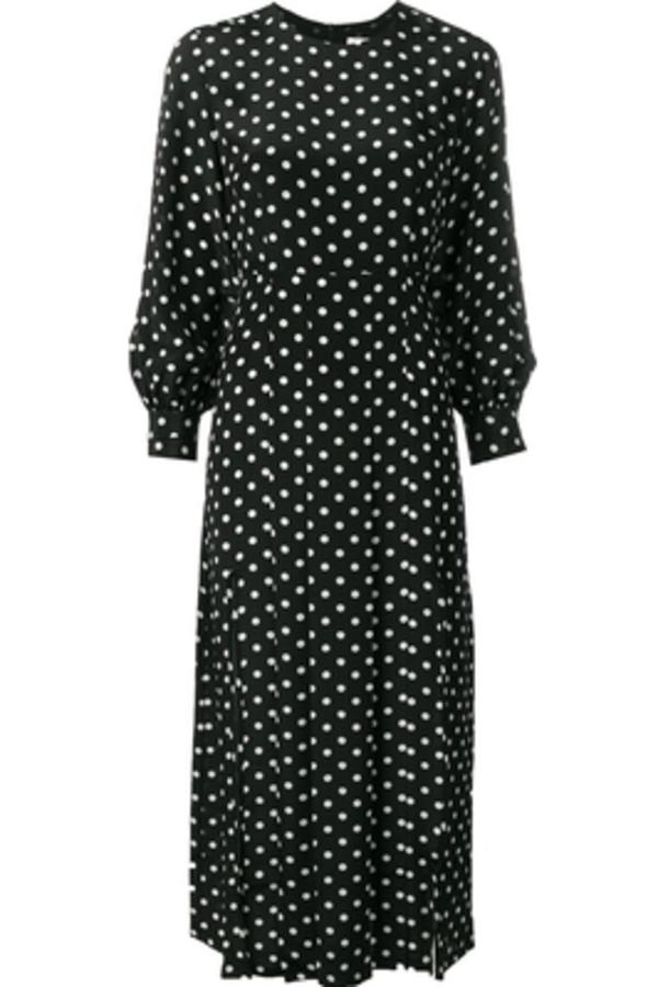 RIXO London Polka Dot Silk Dress