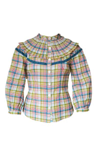 Olivia Annabelle Darcy Blouse in Regency Tartan Preview Images