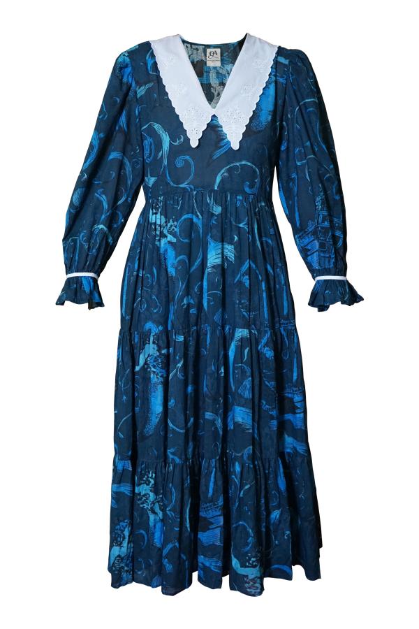 Olivia Annabelle Neptune Dress Atlantis Print