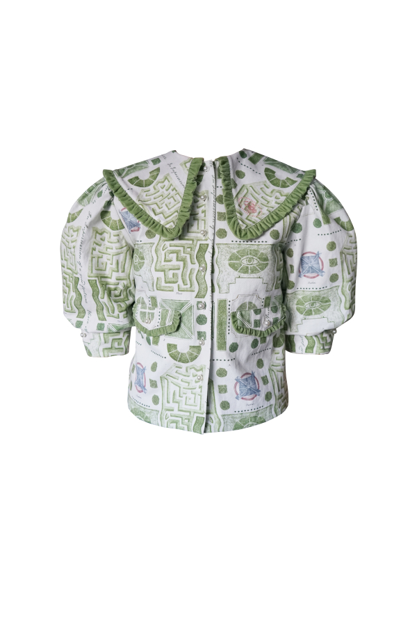 Olivia Annabelle Bennet Jacket in Garden Print 2