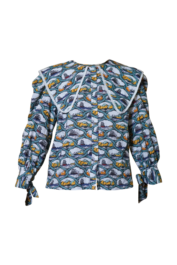Olivia Annabelle Herman Blouse Voyager Print 0 Preview Images