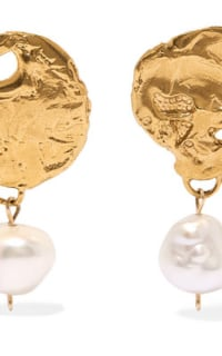 Alighieri Gold-Plated Pearl Earrings 2 Preview Images