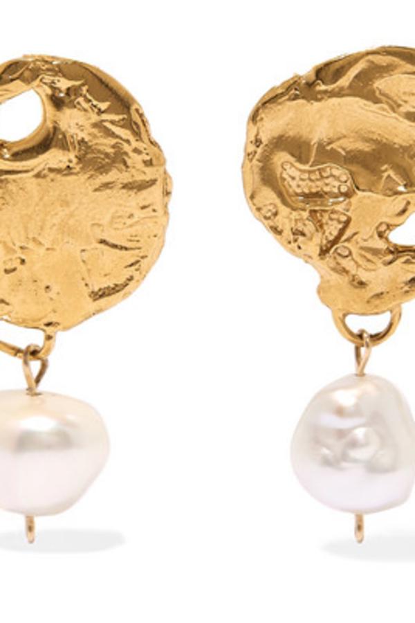 Alighieri Gold-Plated Pearl Earrings 2