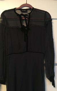 The Kooples Silk dress with velvet ribbons 2 Preview Images