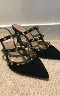 """Valentino Rockstud Mule 90"""" 5 Preview Images"""