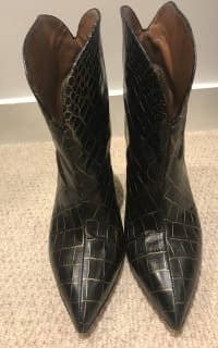 Paris Texas Crocodile Embossed Ankle Boots 2 Preview Images